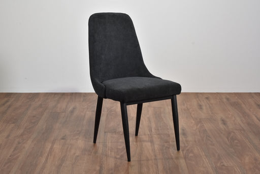 Mid Century Dining Chair, Black Legs With Mayfair Granite Fabric