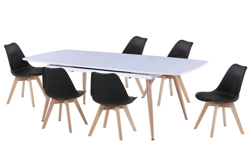 Helsinki 7 Piece Dining Set With Extension Dining Table