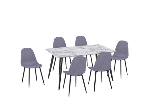 Metro 7 Piece Rectangle Dining Set
