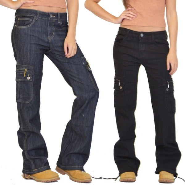 Loose Hiking Military Multi Pockets Casual Jeans