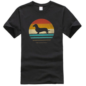 """Retro Doxie Silhouette"" Graphic Tee"
