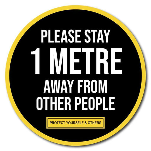 Please Stay 1 Metre Away From Other People, Indoor Floor Sticker 300mm (Pack of 5)