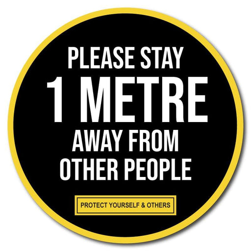 Please Stay 1 Metre Away From Other People, Vinyl Sticker, 10 pack – 105mm and 300mm