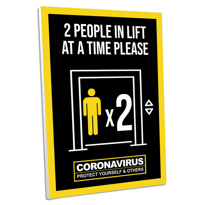 2 People In Lift, Foamex Sign (Pack of 5)