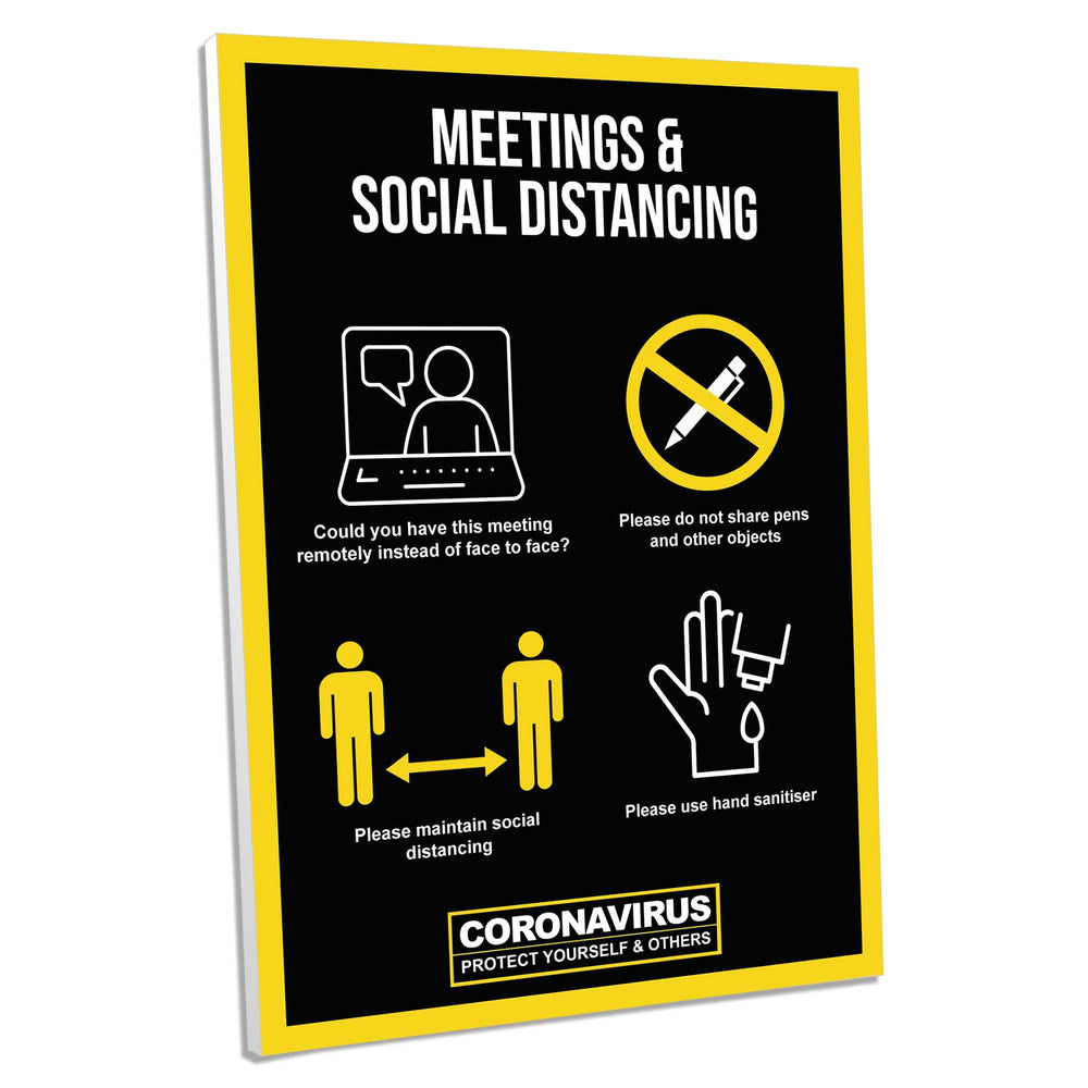 Meeting Guidance, Foamex Sign (Pack of 5)