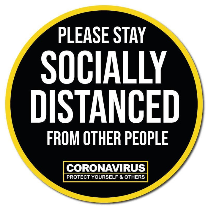 Please Stay Socially Distanced, Carpet Sticker