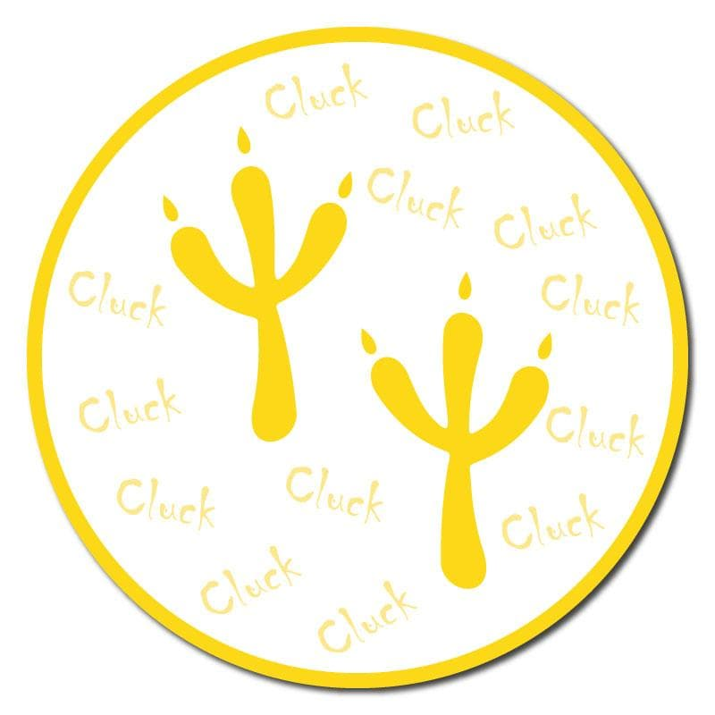 Animal Footprints, Indoor Circle Floor Signage, 300mm Diameter (Pack of 5 x 1 Design)