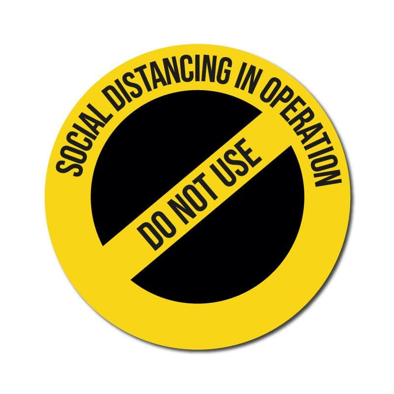 Do Not Use, Vinyl Circular Sticker, 10 pack – 105mm and 300mm