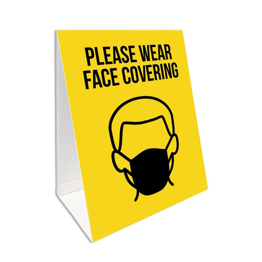 Please Wear Face Covering, A Board