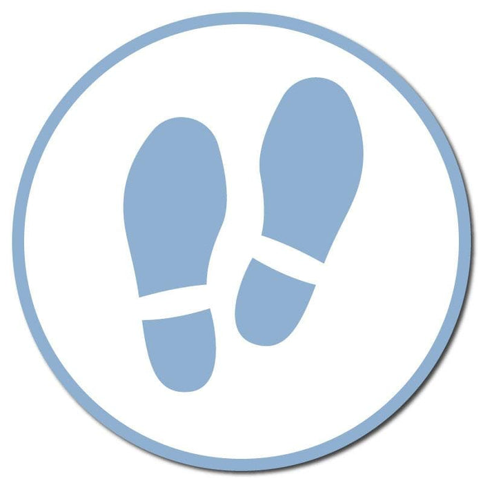 Footprints, Carpet Stickers, Multiple Colours & Sizes Available