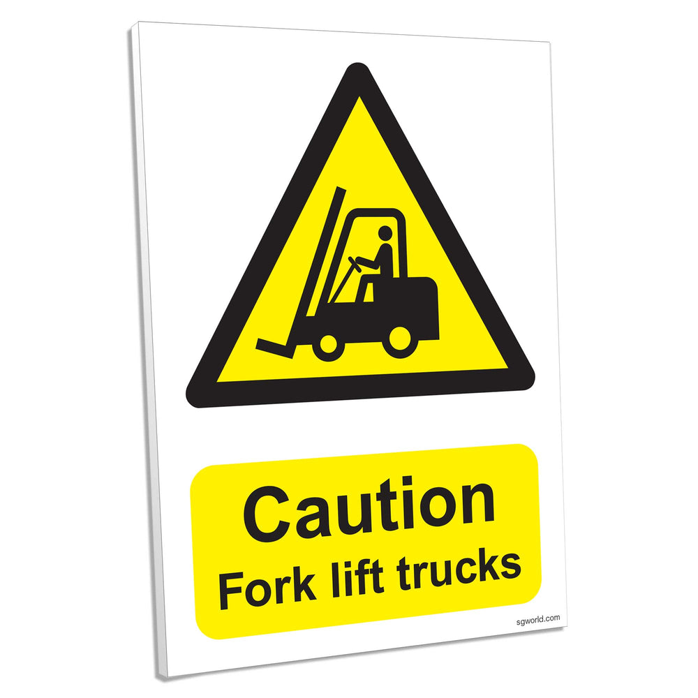 Caution Fork Lift, Composite Aluminium Sign