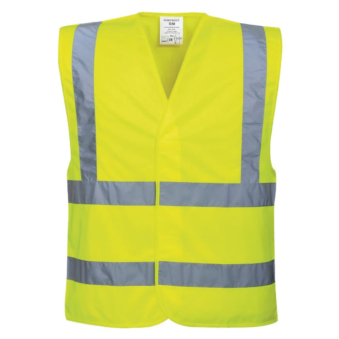 Front Of  Hi Vis Vest Custom Text SG World