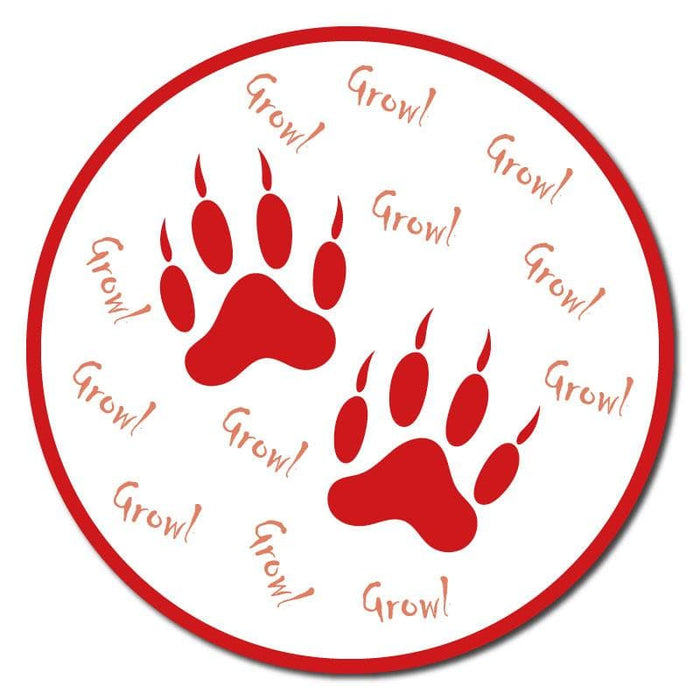 Animal Footprints, Outdoor Floor Signage - 60cm Diameter