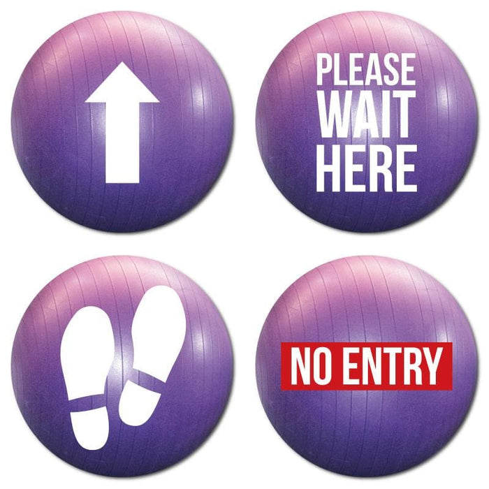 Gym Ball, Indoor Floor Signage, Various Messages Available (Pack of 5)