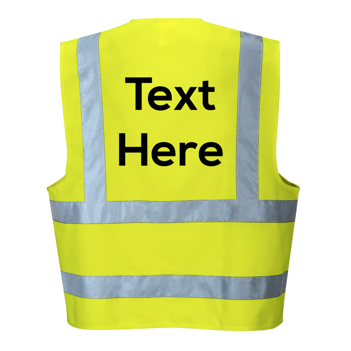 Your Text Here on the back  of Hi Vis Vest | SG World
