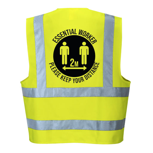Essential Worker Social Distancing Hi Vis Vest