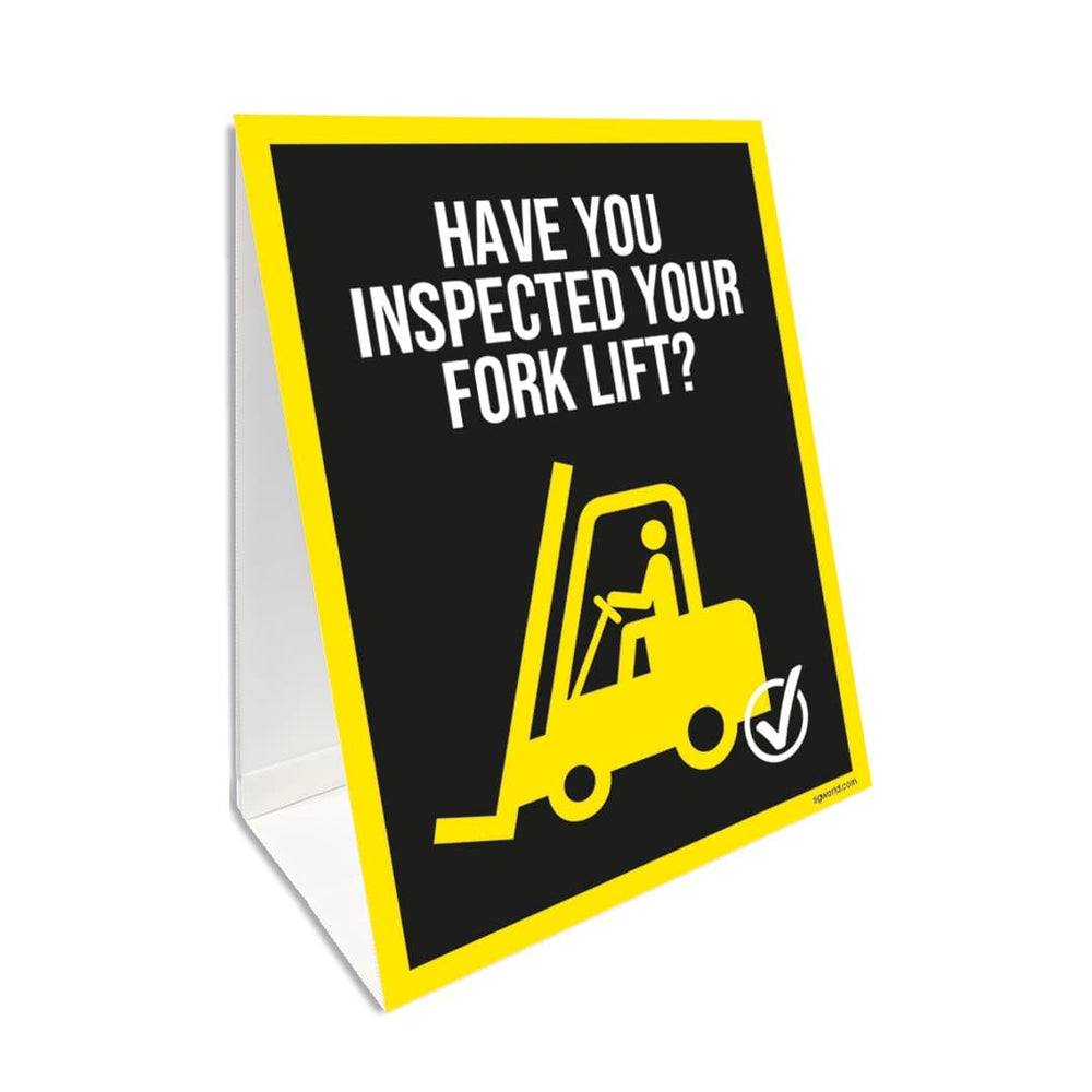 Fork Lift Inspection Reminder, A Board