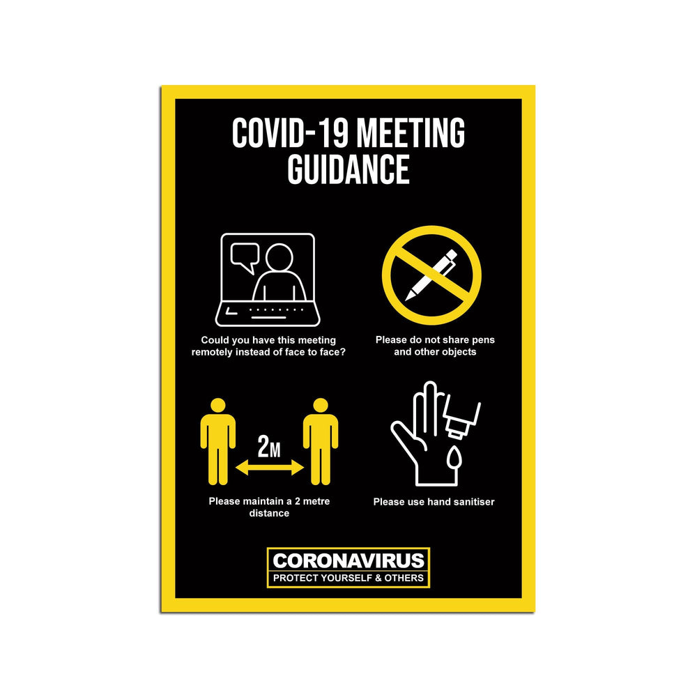 Meeting Guidance Poster For Offices (Pack of 5)