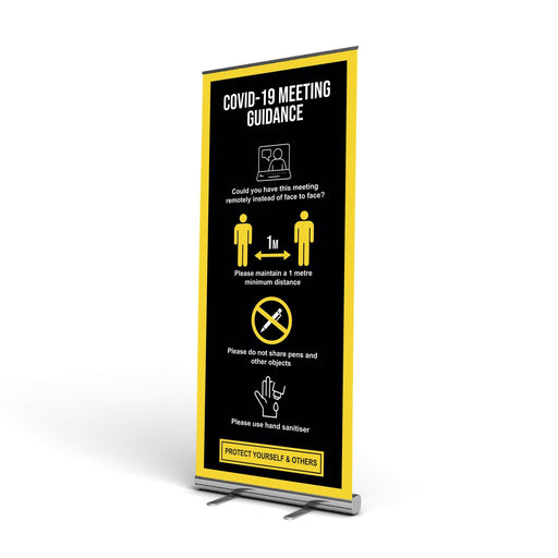 1 Metre Distance, Meeting Pop Up Banner (Social Distancing)