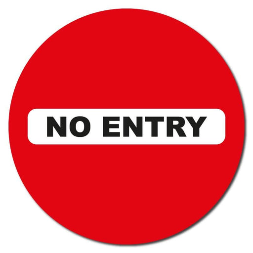 No Entry, Carpet Sticker