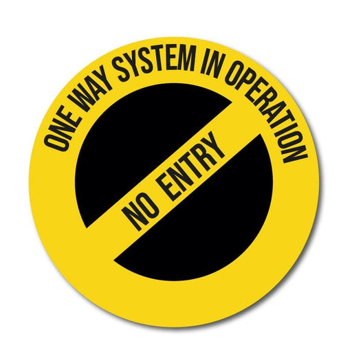 No Entry One Way Only Vinyl Circular Sticker, 10 pack – 105mm and 300mm