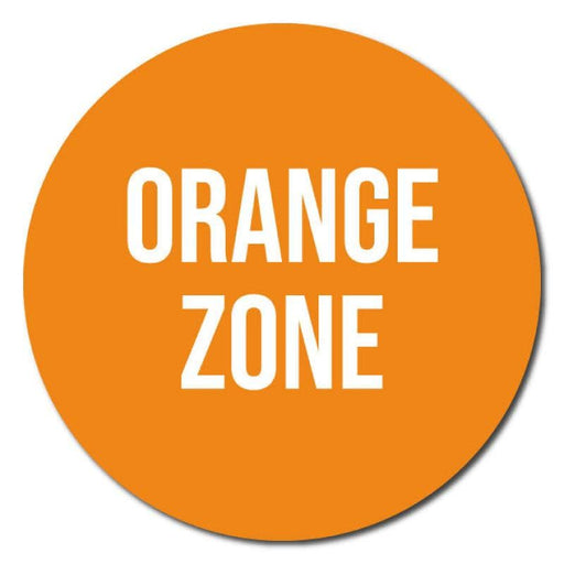 Zone Colours, Indoor Circle Floor Signage, 60cm Diameter