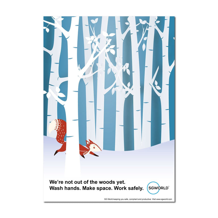 Out Of The Woods, Poster For Offices, Shops, Pubs & Hotels (Pack of 5)