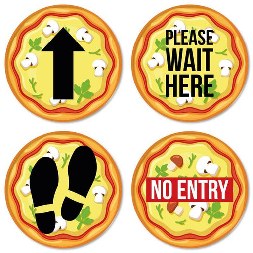 Pizza Indoor Hospitality Floor Signage, Various Messages Available (Pack of 5)