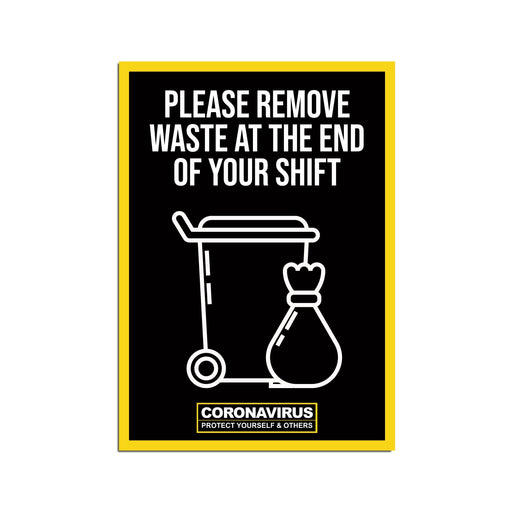 Please Remove Waste Poster Warehouse & Factory Safety Sign (Pack of 5)