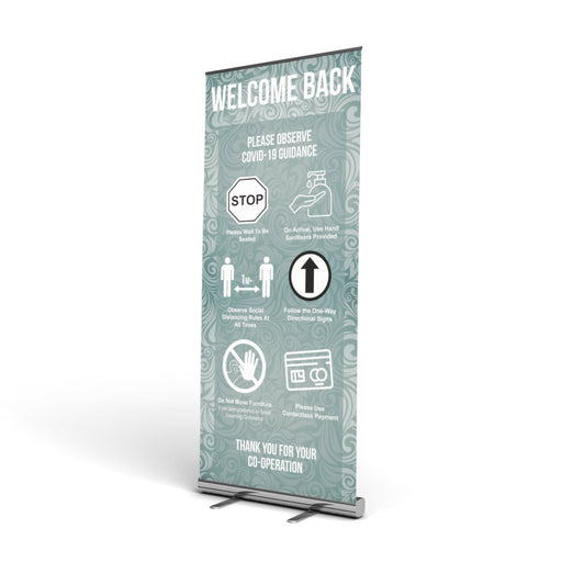 Pub / Restaurant Guidance, Pop Up Banner