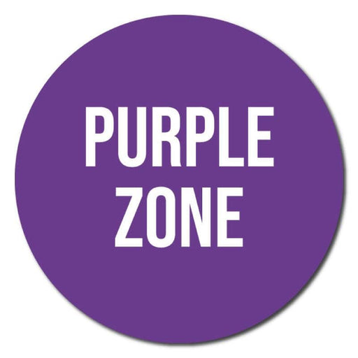 Zone Colours, Indoor Circle Floor Signage, 300mm Diameter (Pack of 5)