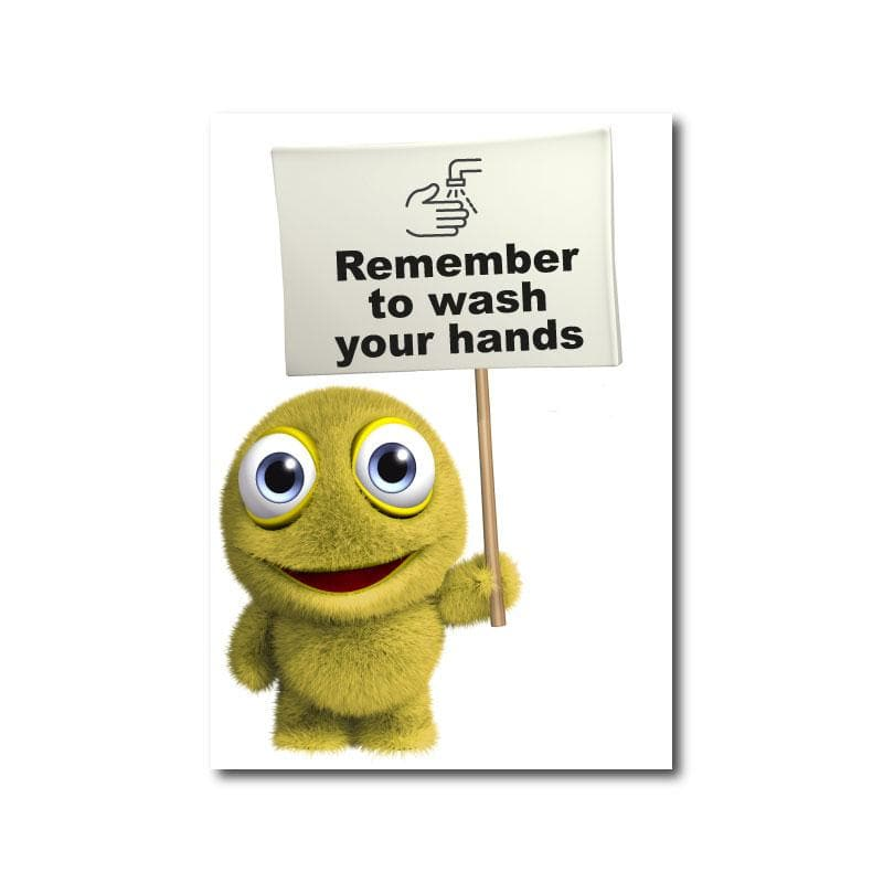 Remember To Wash Your Hands, Static Cling (Schools)