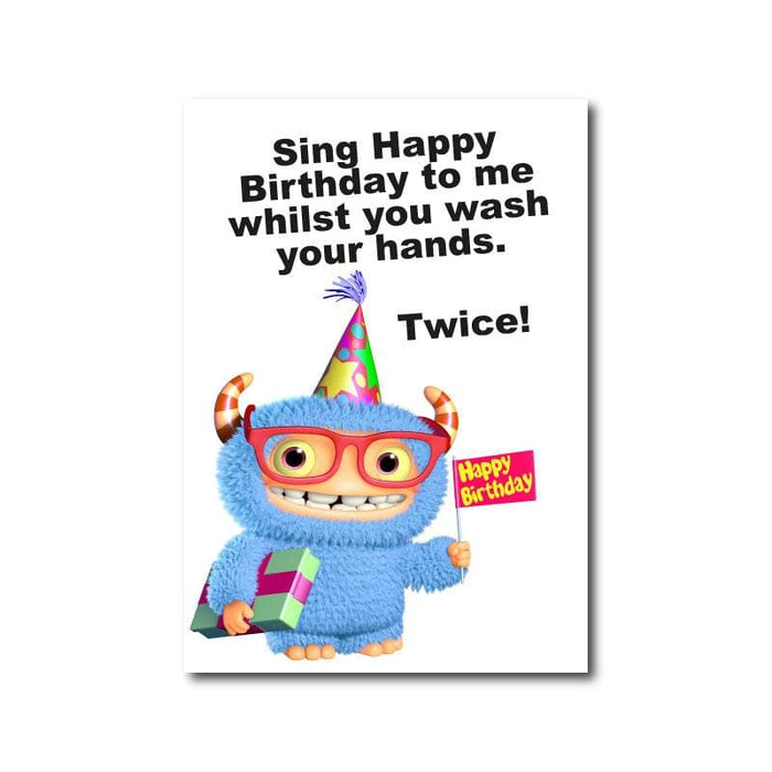 Happy Birthday Hand Washing, Window Signs For Schools & Education