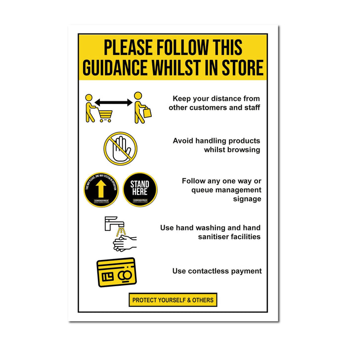 Shop Guidance, Static Window Cling For Shops