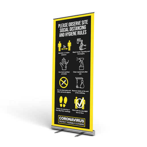 Summary Site Guidance, Pop Up Banner (2 Metre Social Distancing)