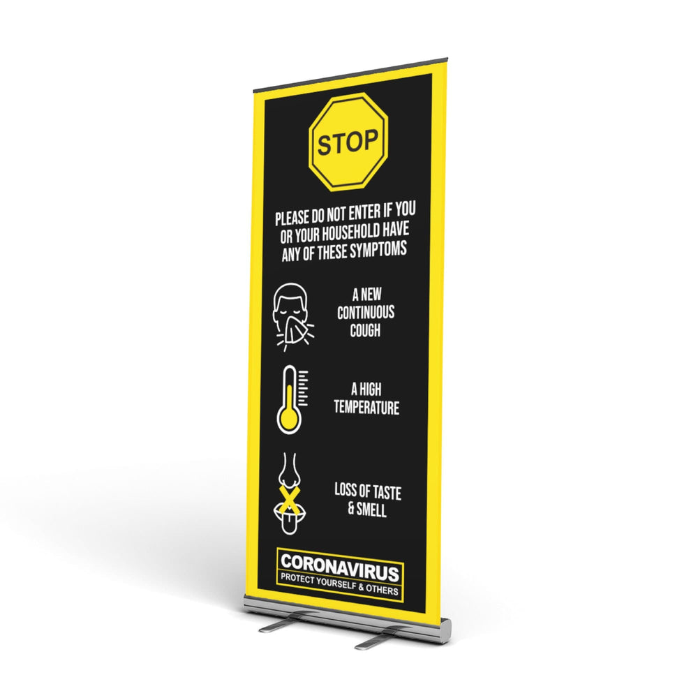 Covid-19 Symptoms Pop Up Banner