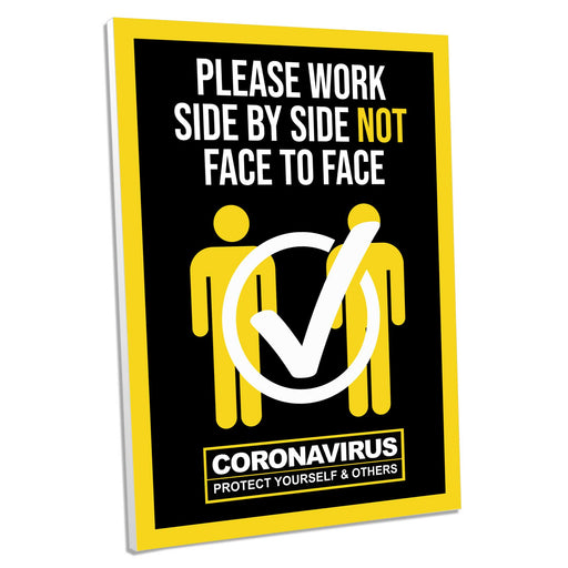 Work Side By Side, Foamex Sign (Pack of 5)