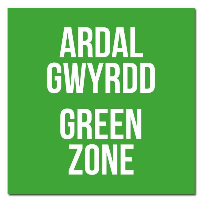 Zone Colours, Bilingual Welsh Indoor Floor Signage 30cm X 30cm (Pack of 5)