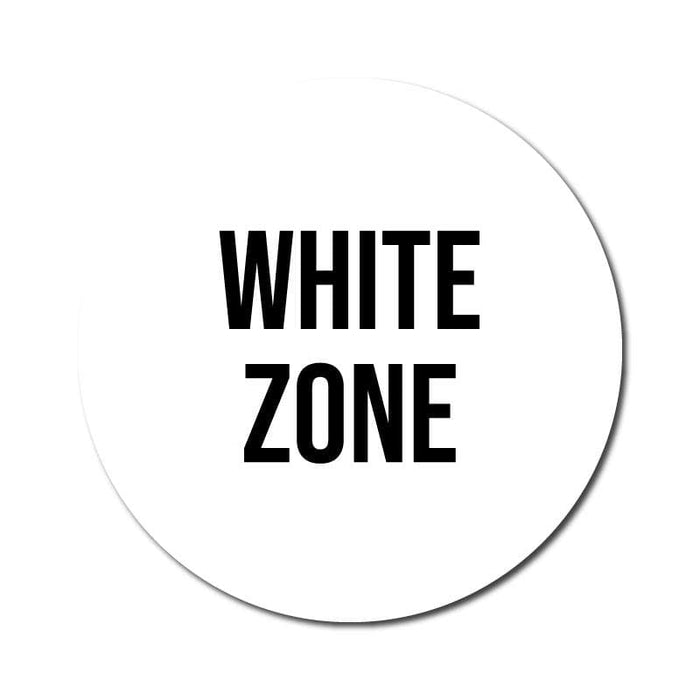 Zone Colours, Vinyl Circular Sticker, 10 pack – 105mm and 300mm, Various Colours Available