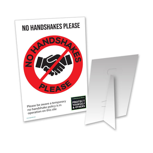 No Handshake Counter Top Sign (Pack of 5)