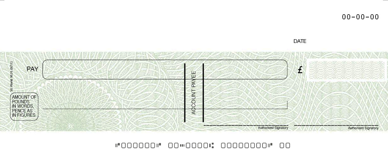 Green Fugitive Computer Cheque