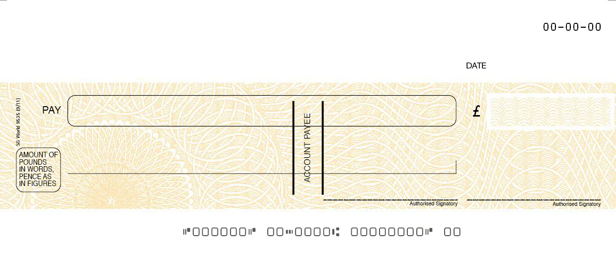 Yellow Fugitive Computer Cheque