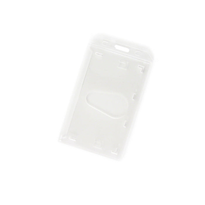 Clear Portrait ID Card Holder with thumbslot empty