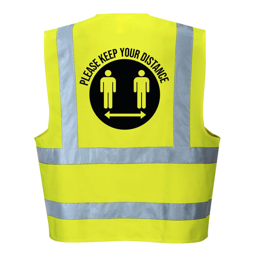 Please Keep Your Distance Hi Vis Vest