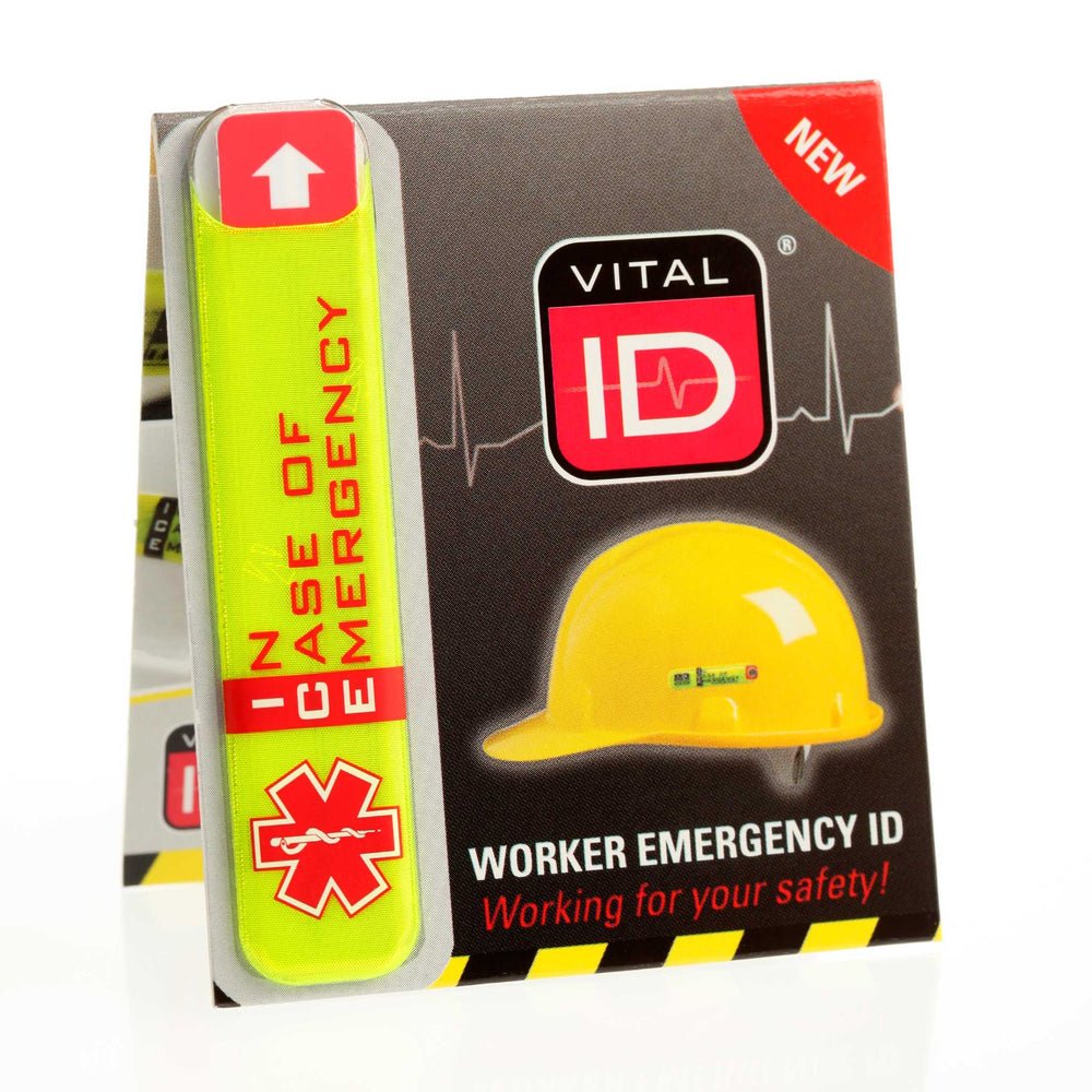 Worker Emergency ID Adhesive Tag