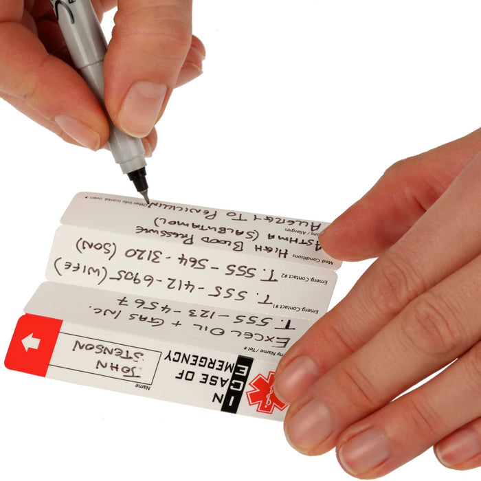 Paper contents of Worker Emergency ID  Tag with Window