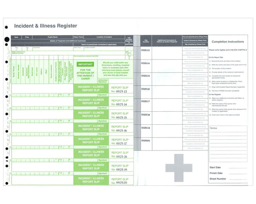 Incident Reporting Form Register