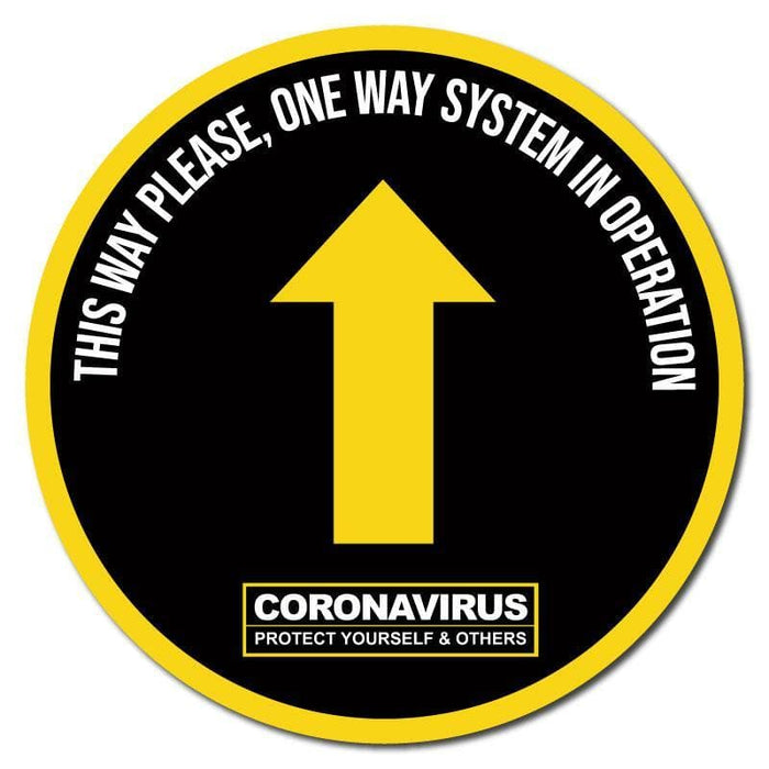 This Way Please, One Way System In Operation, Carpet Sticker