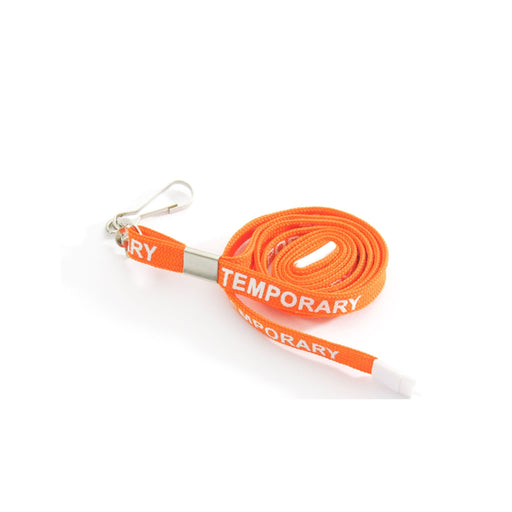 Orange Temporary Lanyard