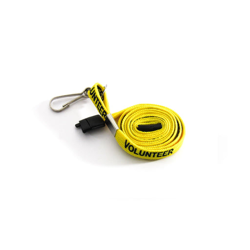 Yellow Volunteer Lanyard